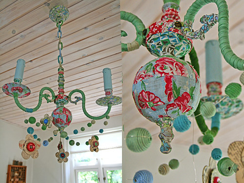 Hand made a gallery on flickr my chandelier close ups paper mache brooches mozeypictures Choice Image