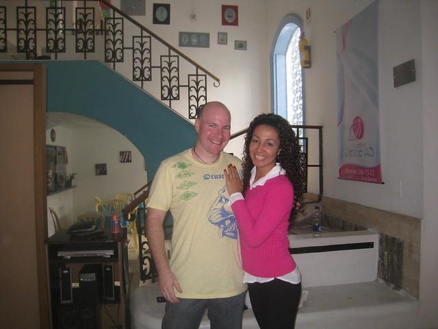 Yamile and I at the dance studio