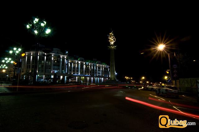 Rondo przy ulicy Rustaveliego w Gruzji