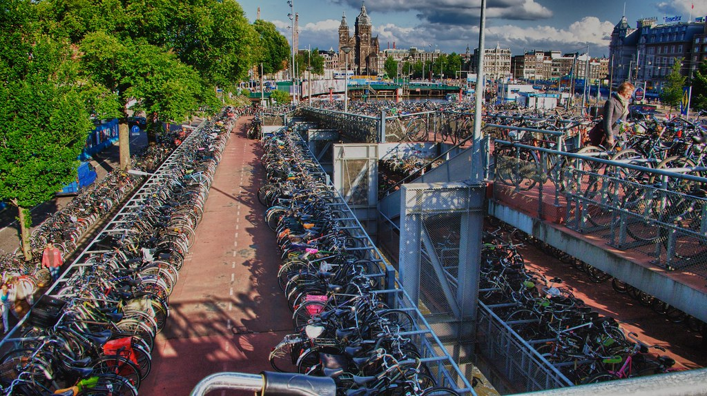 Amsterdam bicycle parking