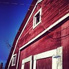 Red barn, blue sky. #ranchlife #northdakota #westernnd