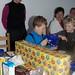 Huub unpacking birthday gifts ©TonZ