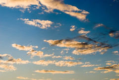 cumulus, cloud, sunlight, evening, daytime, sky, sunset, afterglow,