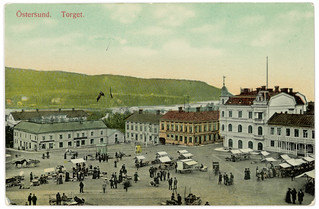 Östersund - Torget (ca. 1909)