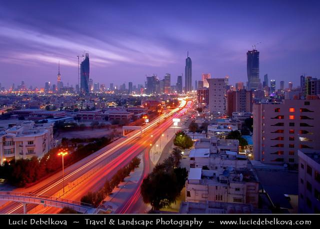 Kuwait - Welcome Home Sunset over Kuwait City