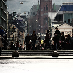 Bergen Crowd A Sunny Day