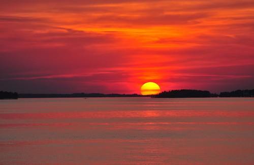 sunset southcarolina fa scapes lakemurray
