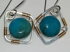 Diamond framed turquoise