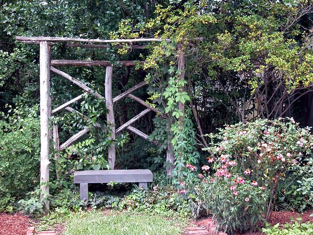 Wooden Bench Arbor Woodland Garden Flickr Photo Sharing
