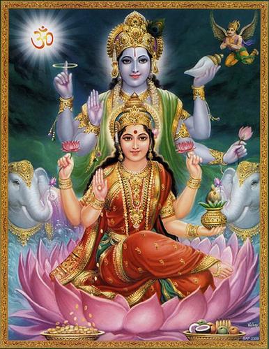 Devi Lakshmi e Vishnu