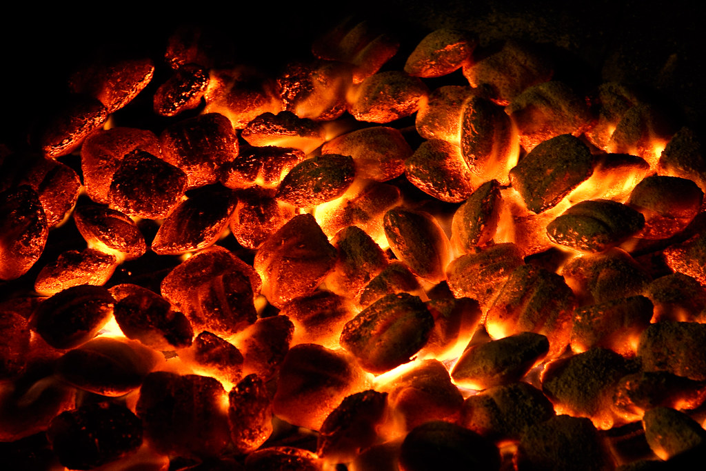 On Black Hot Coals By Chrismar Large