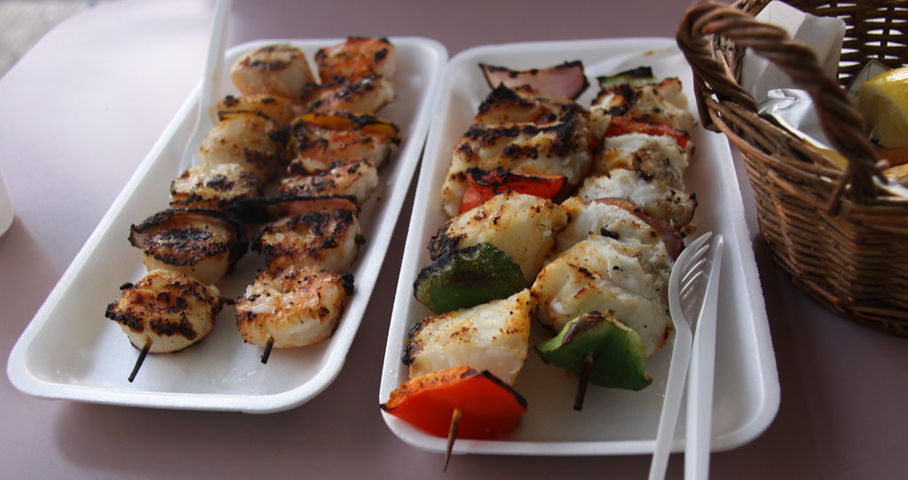 Seafood Skewers at Sægreifinn (or the Sea Baron) - Reykjavik