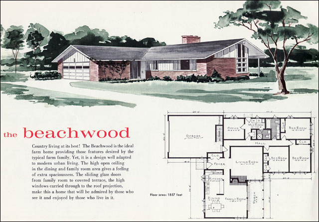 1960 beachwood house plan a photo on flickriver for Home design 60s