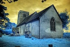 Infrared HDR St Mary's church Badley Suffolk