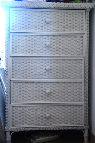 White wicker set of chest drawers flickr photo sharing