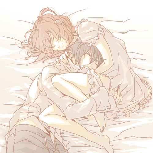 ikuto with amu in the bed | Flickr - Photo Sharing!