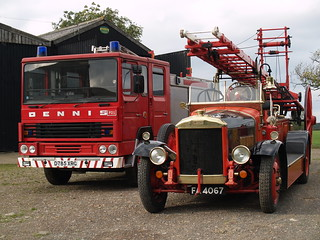 2 ages of Dennis Fire Engines