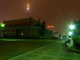 Image of Sun Yat-sen Memorial Hall near Taipei. leica travel me night self lumix memorial taiwan panasonic taipei taipei101 sunyatsen fz18 panasonicdmcfz18 georgewilliamcurtis