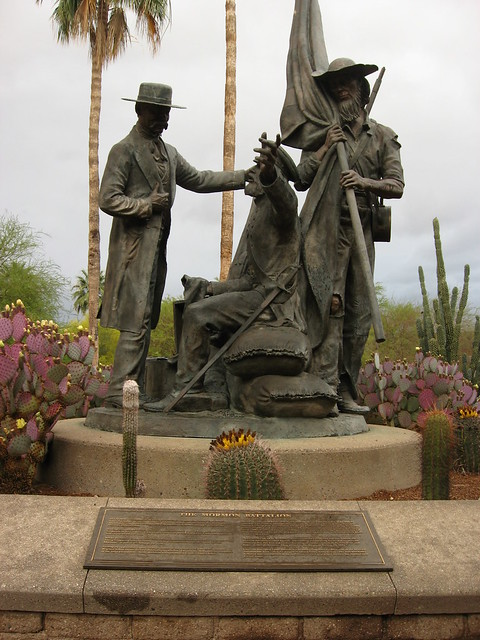 Mormon Battalion Monument, El Presidio Park, near Pima County Courthouse, Tucson, Arizona, by Ken Lund