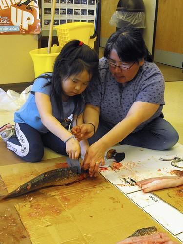 Preparing fish