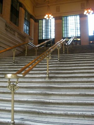 Chicago Union Station The Baby Carriage Scene Stairs From