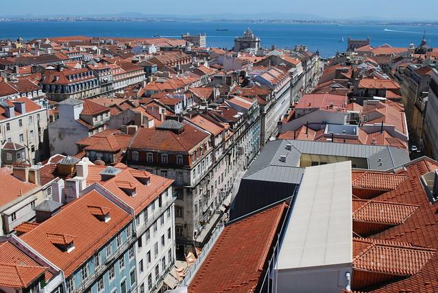 view from Elevador de Santa Justa, Lisbon, Aug 2008