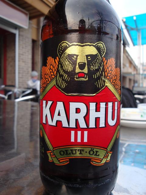 Karhu olut: la cerveza del oso