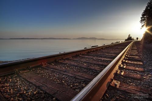 sunset geotagged rail shore washingtonstate hdr railwaytracks usandthem chuckanutdrive janusz leszczynski 2221 platinumphoto scagitvalley stayontherighttrack geo:lat=48625264 geo:lon=122460158