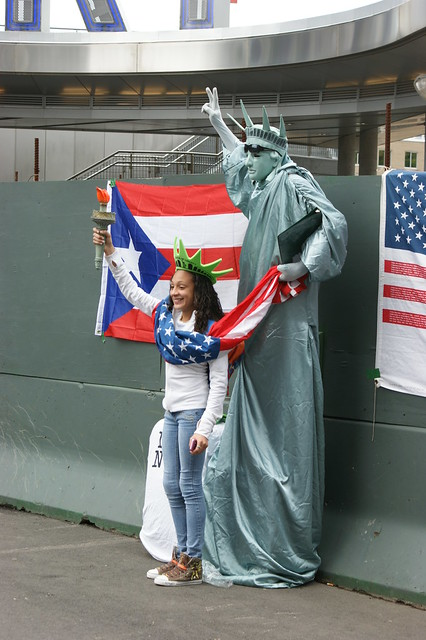 Satatue Of Liberty With Puartarican Flag Tattoo: Statue Of Liberty Celebrates Puerto Rico Day