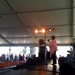 Sat, 01/08/2009 - 3:16pm - Mavis charms the crowd at the Harbor Stage.