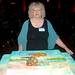Jackie with 40th Anniversary Cake