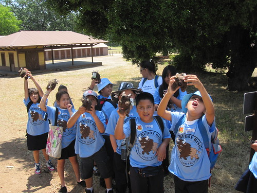 Students celebrating 2011 National Kids to Parks Day in Santa Monica Mountains National Recreation Area