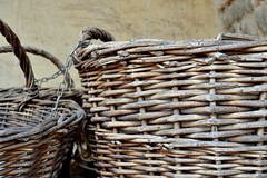 wood, wicker, close-up, basket,