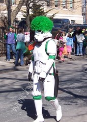 Storm Trooper with Green Afro
