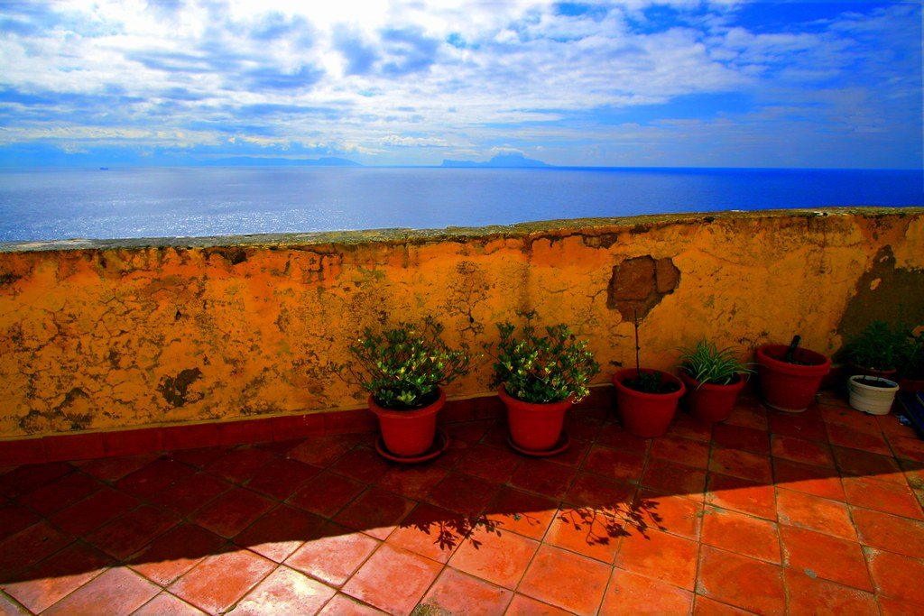 Terrace and sea