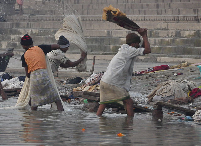 Washing clothes on the Ganges