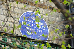 Photo of H. Rider Haggard blue plaque