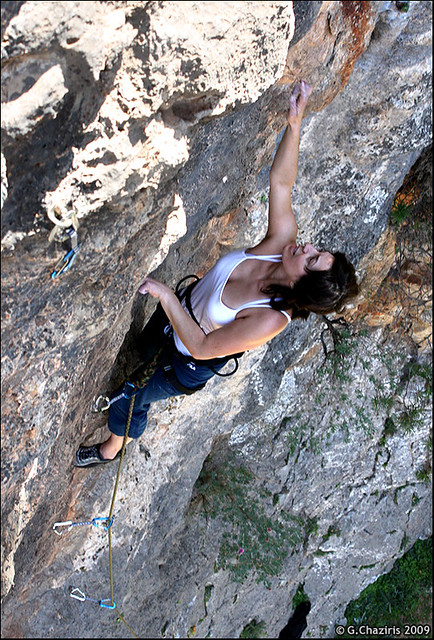 "Despina on ""Hell Awaits"" Agiofaraggo, Crete"