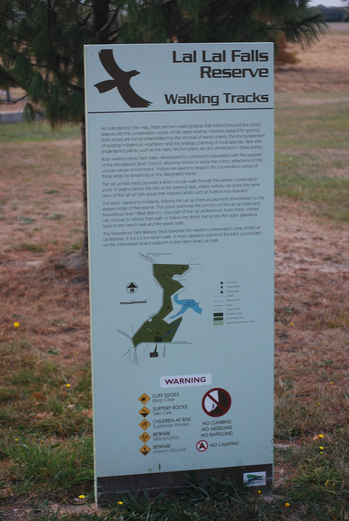 Sign Near Lal Lal Falls - Walking Trail