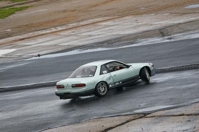 Nissan Silvia spinning out