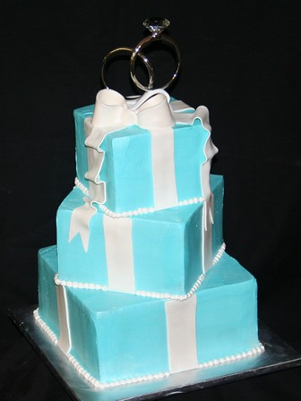 Tiffany Blue Wedding Cakes