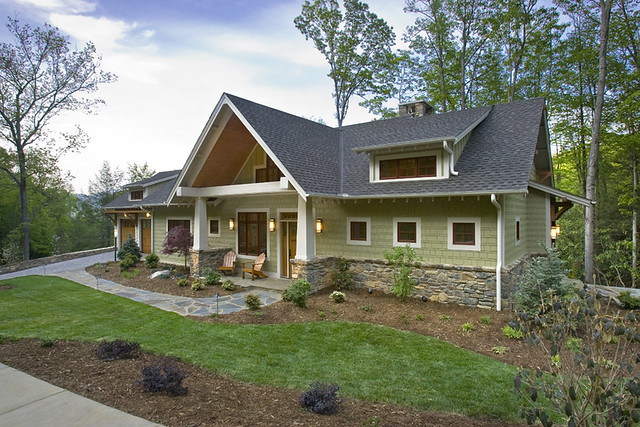 Custom home siding stone flickr photo sharing for Cool house exteriors