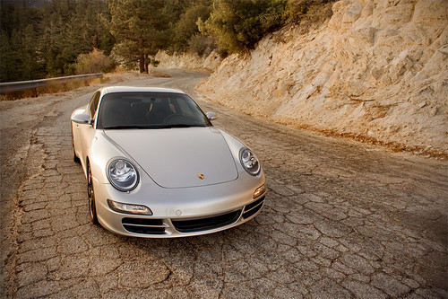 Alexander Bermudez's Porsche 997 S somewhere in the San Gabriel Mountains.