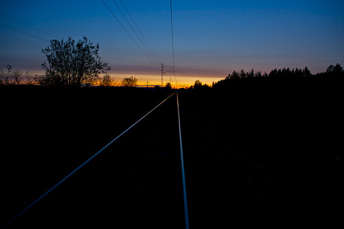 railroad sunset night country rail railway olympus rails zuiko 2428 om24mmf28 omoneos