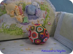 Pentagon Patchwork baby ball pictorial instructions