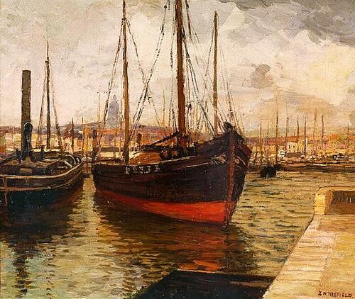 Brown fishing boat near dock flickr photo sharing for Fishing docks near me