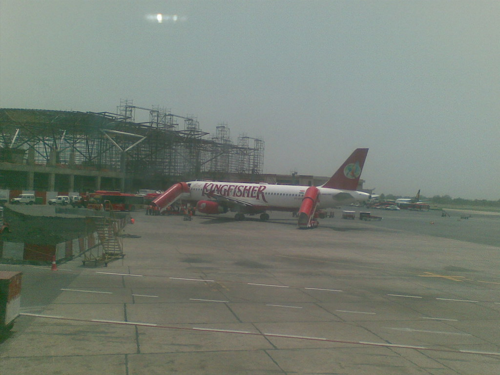 Dehli Airport Kingfisher Airbus