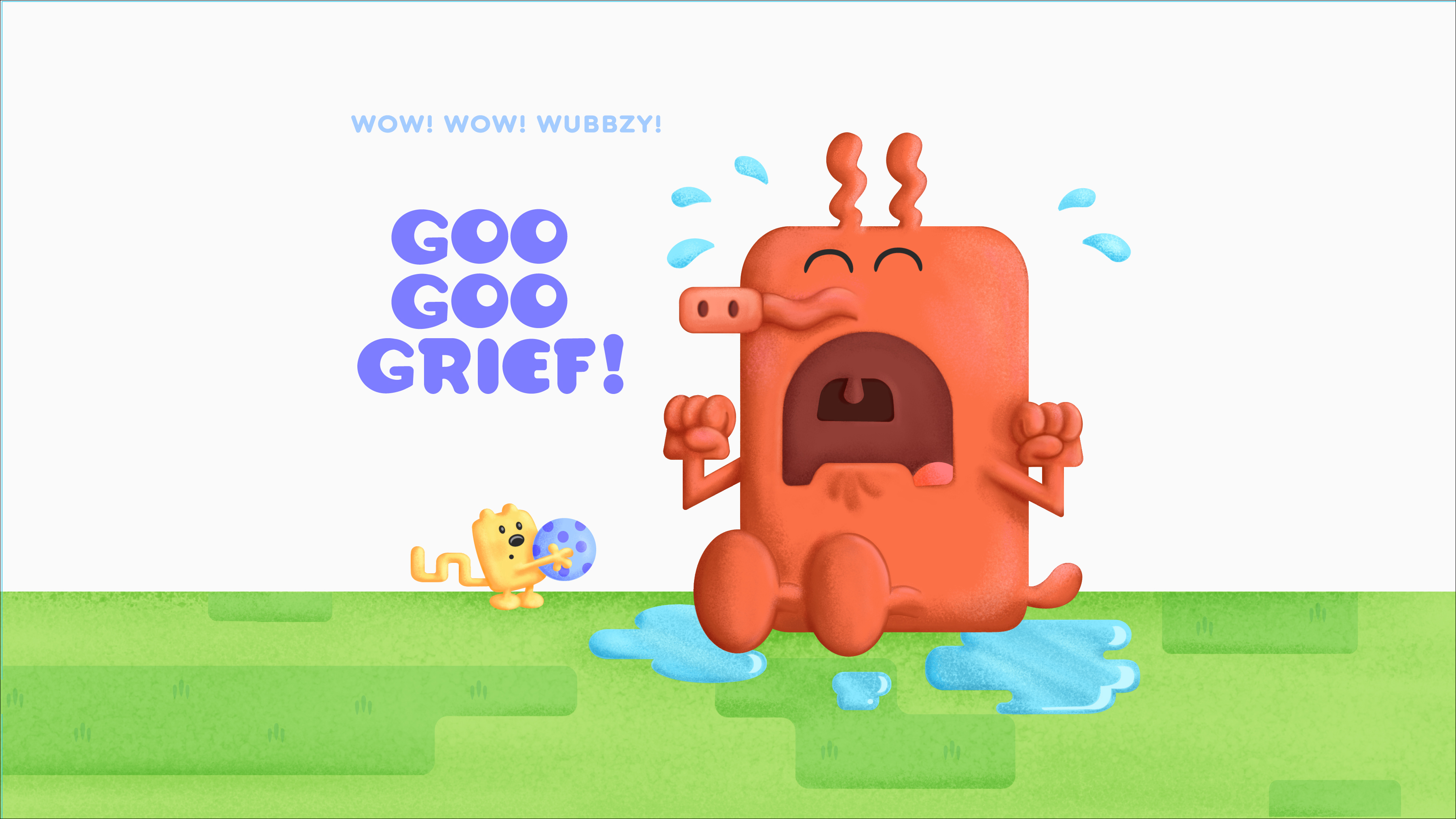 """Goo Goo Grief!"" Title Card"