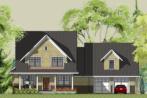 Small Craftsman House Plans Front Elevation