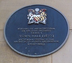 Photo of Alfred Waterhouse black plaque